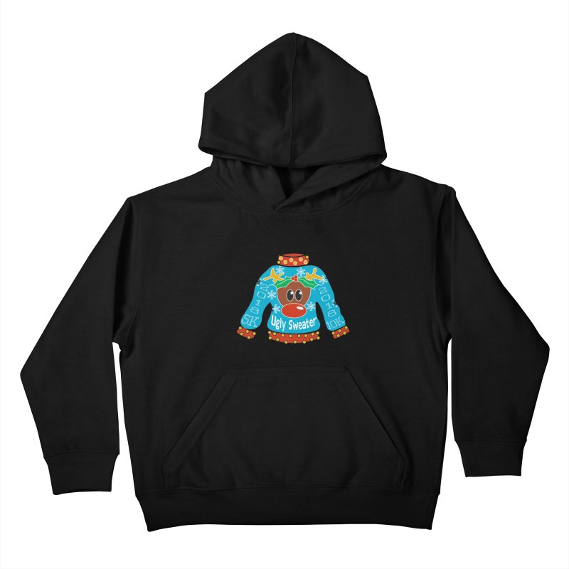 Ugly Sweater 5K & 10K Kids Pullover Hoody by moonjoggers's Artist Shop