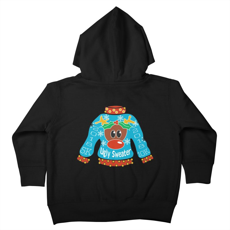 Ugly Sweater 5K & 10K Kids Toddler Zip-Up Hoody by moonjoggers's Artist Shop