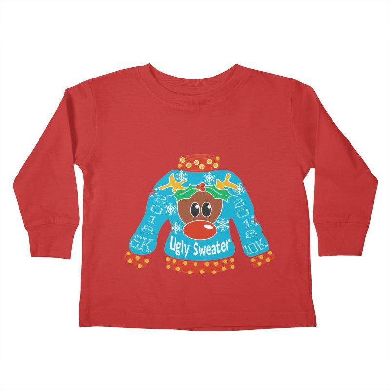 Ugly Sweater 5K & 10K Kids Toddler Longsleeve T-Shirt by moonjoggers's Artist Shop