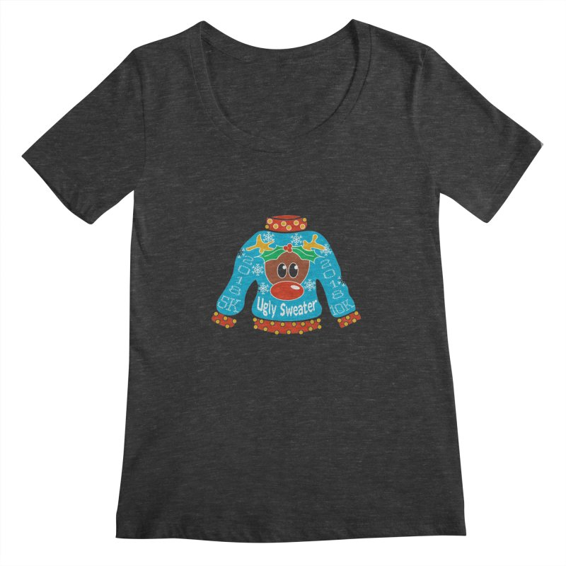 Ugly Sweater 5K & 10K Women's Regular Scoop Neck by moonjoggers's Artist Shop
