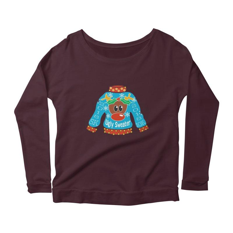 Ugly Sweater 5K & 10K Women's Scoop Neck Longsleeve T-Shirt by moonjoggers's Artist Shop