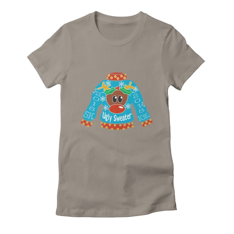 Ugly Sweater 5K & 10K Women's Fitted T-Shirt by moonjoggers's Artist Shop