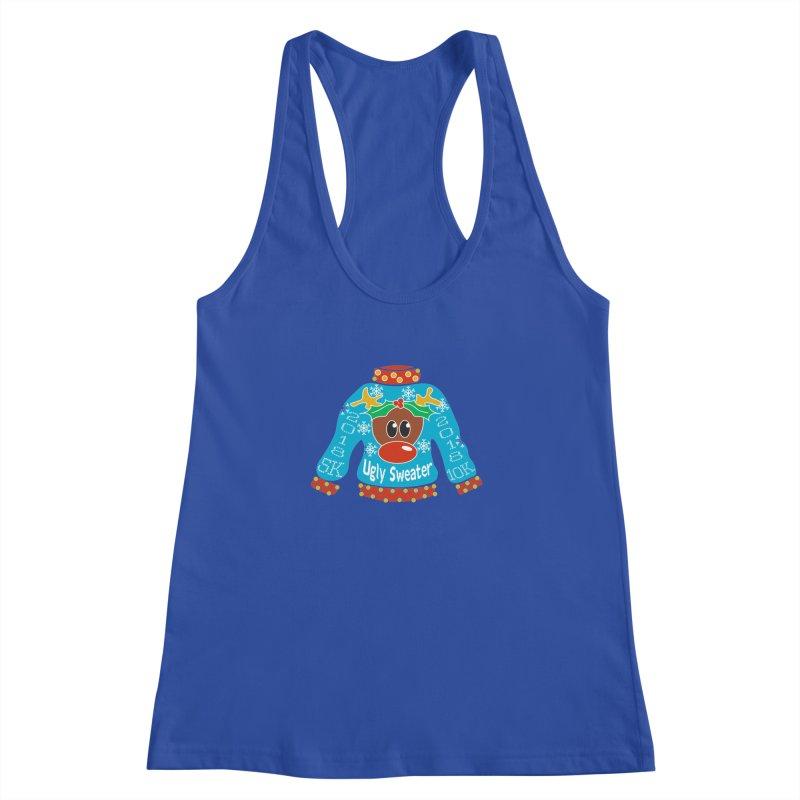 Ugly Sweater 5K & 10K Women's Racerback Tank by moonjoggers's Artist Shop