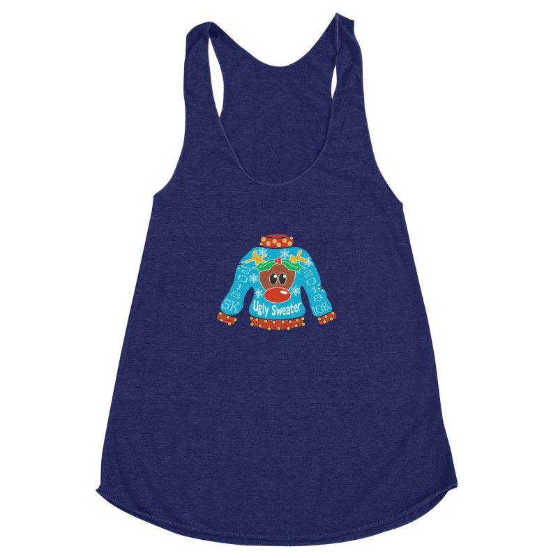 Ugly Sweater 5K & 10K Women's Racerback Triblend Tank by moonjoggers's Artist Shop