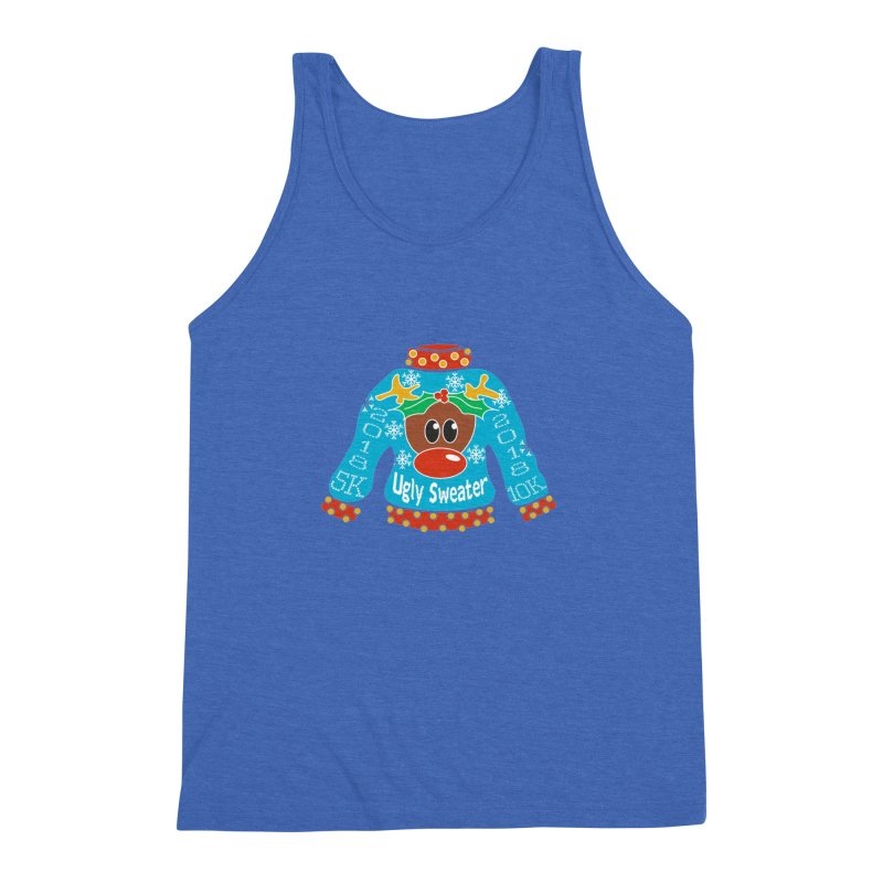 Ugly Sweater 5K & 10K Men's Triblend Tank by moonjoggers's Artist Shop