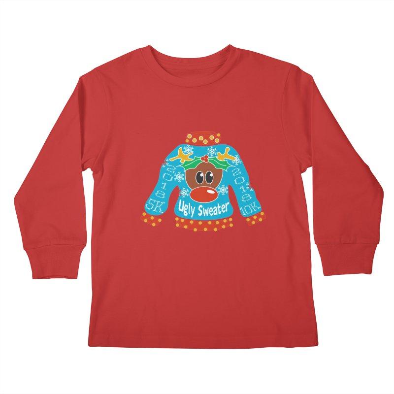 Ugly Sweater 5K & 10K Kids Longsleeve T-Shirt by moonjoggers's Artist Shop