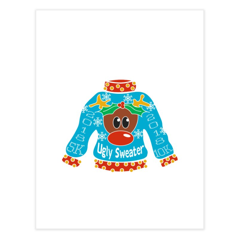 Ugly Sweater 5K & 10K Home Fine Art Print by moonjoggers's Artist Shop