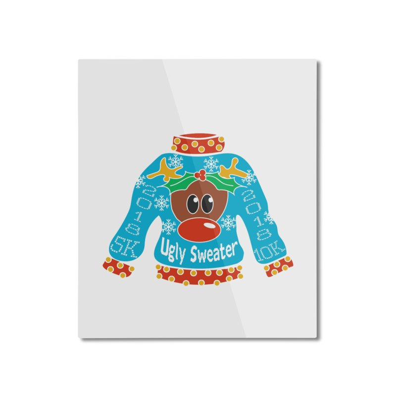 Ugly Sweater 5K & 10K Home Mounted Aluminum Print by Moon Joggers's Artist Shop