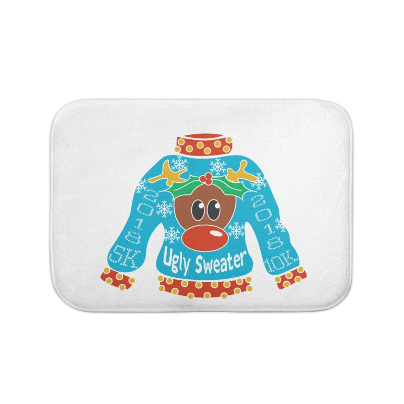 Ugly Sweater 5K & 10K Home Bath Mat by moonjoggers's Artist Shop