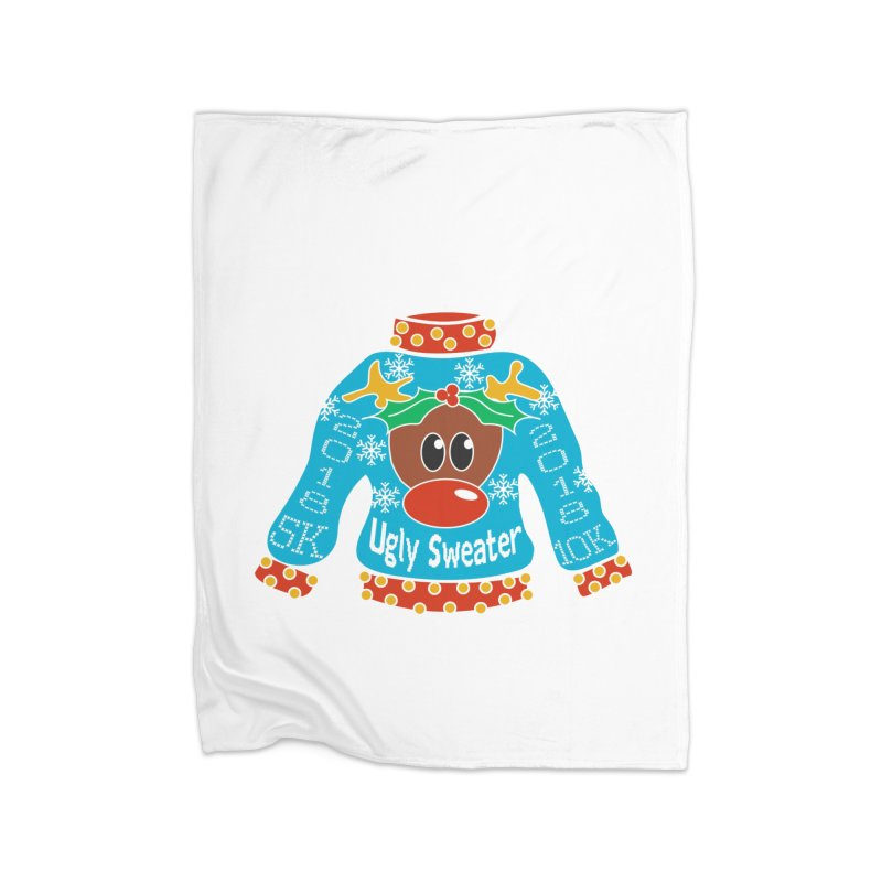 Ugly Sweater 5K & 10K Home Blanket by moonjoggers's Artist Shop