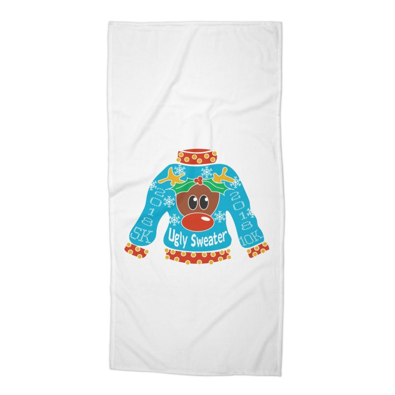 Ugly Sweater 5K & 10K Accessories Beach Towel by moonjoggers's Artist Shop