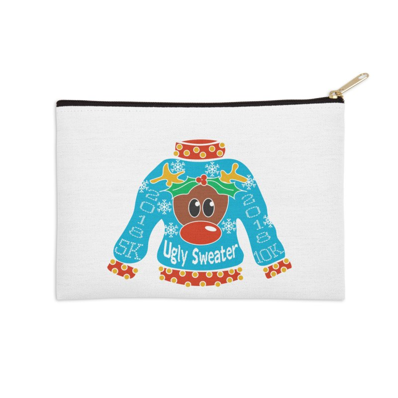 Ugly Sweater 5K & 10K Accessories Zip Pouch by moonjoggers's Artist Shop