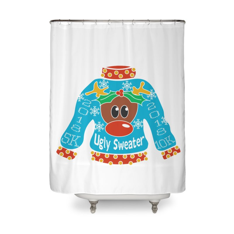 Ugly Sweater 5K & 10K Home Shower Curtain by moonjoggers's Artist Shop