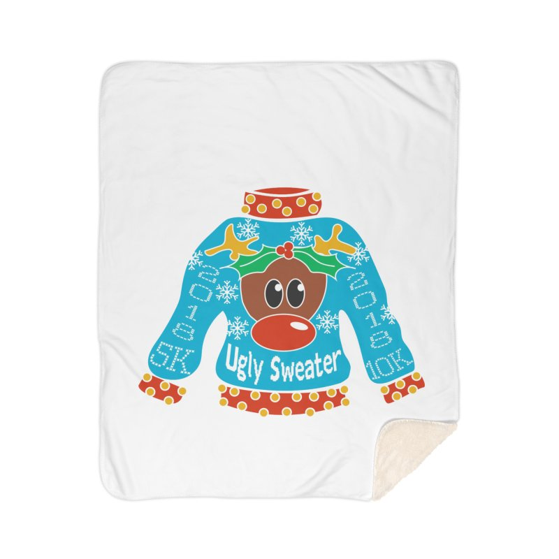 Ugly Sweater 5K & 10K Home Blanket by Moon Joggers's Artist Shop
