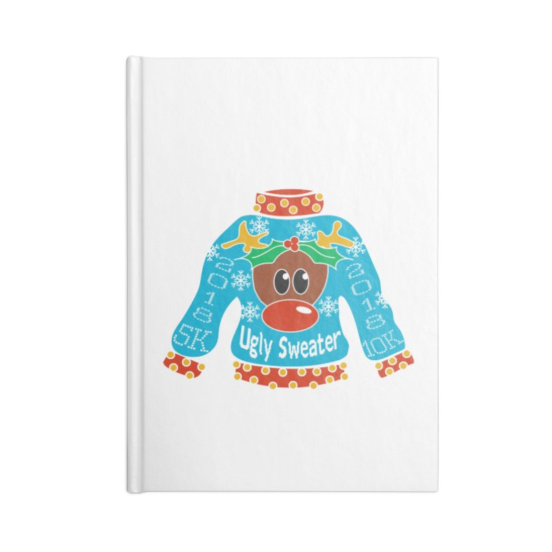 Ugly Sweater 5K & 10K Accessories Notebook by moonjoggers's Artist Shop