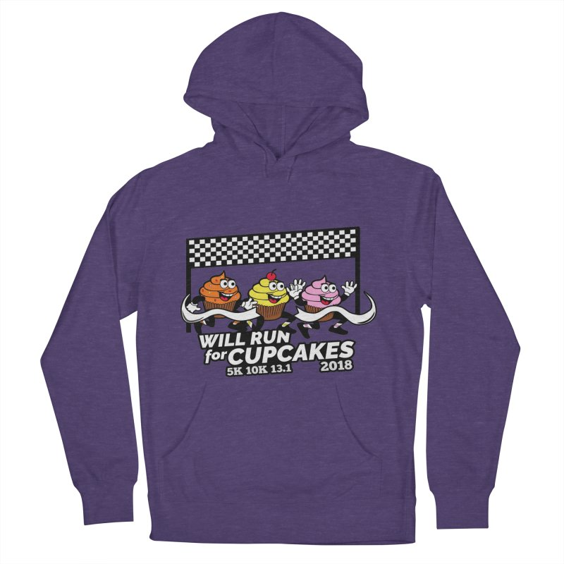 Cupcake Day 5K, 10K, 13.1 - Will Run For Cupcakes Men's French Terry Pullover Hoody by moonjoggers's Artist Shop