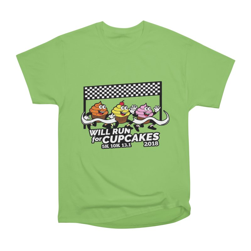 Cupcake Day 5K, 10K, 13.1 - Will Run For Cupcakes Men's Heavyweight T-Shirt by moonjoggers's Artist Shop