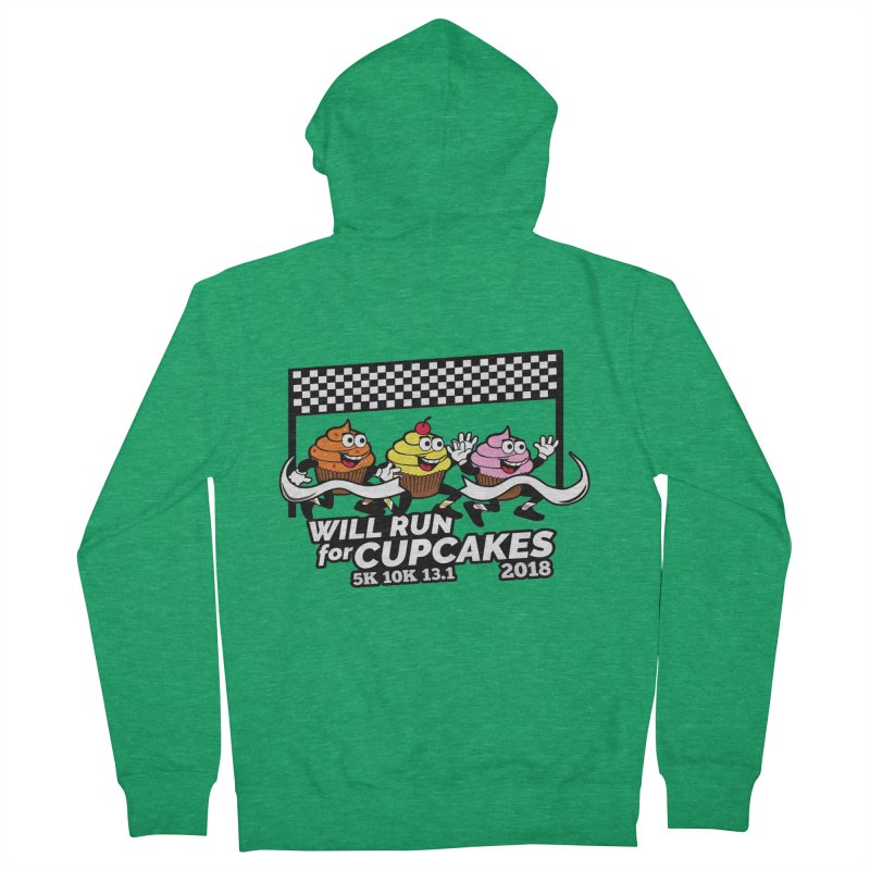 Cupcake Day 5K, 10K, 13.1 - Will Run For Cupcakes Women's Zip-Up Hoody by moonjoggers's Artist Shop