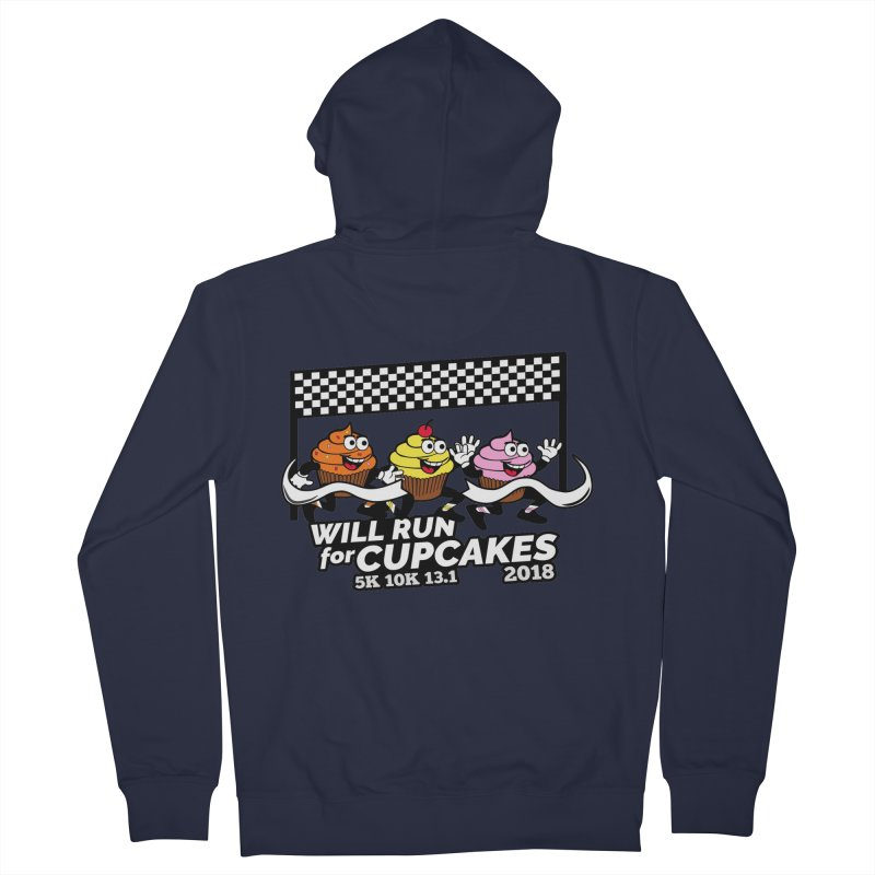Cupcake Day 5K, 10K, 13.1 - Will Run For Cupcakes Women's French Terry Zip-Up Hoody by moonjoggers's Artist Shop