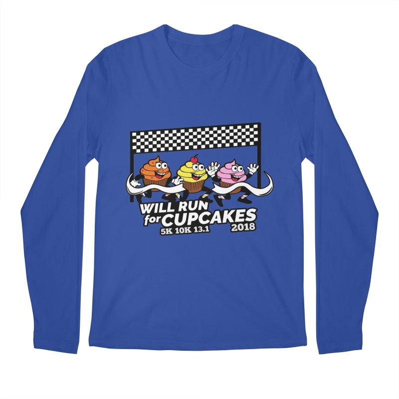 Cupcake Day 5K, 10K, 13.1 - Will Run For Cupcakes Men's Regular Longsleeve T-Shirt by moonjoggers's Artist Shop