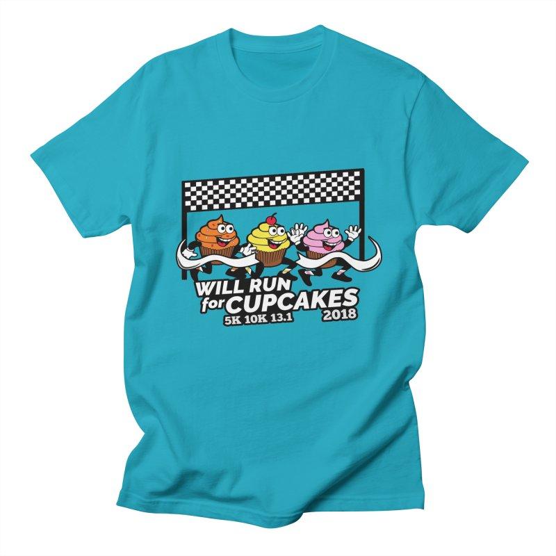 Cupcake Day 5K, 10K, 13.1 - Will Run For Cupcakes Women's Regular Unisex T-Shirt by moonjoggers's Artist Shop