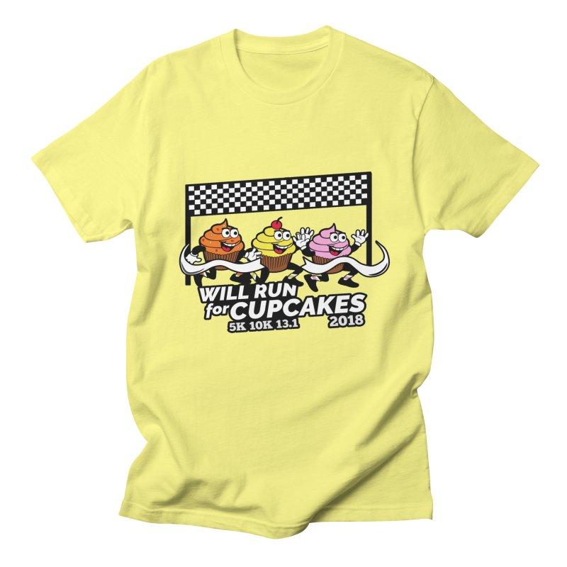 Cupcake Day 5K, 10K, 13.1 - Will Run For Cupcakes Men's Regular T-Shirt by moonjoggers's Artist Shop