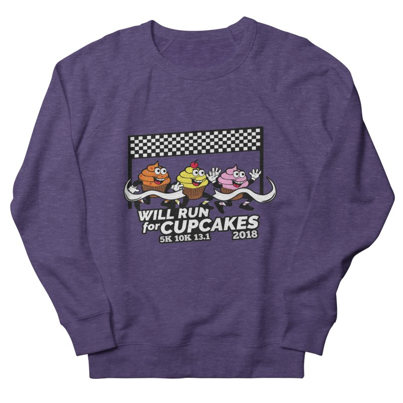 Cupcake Day 5K, 10K, 13.1 - Will Run For Cupcakes Men's French Terry Sweatshirt by moonjoggers's Artist Shop