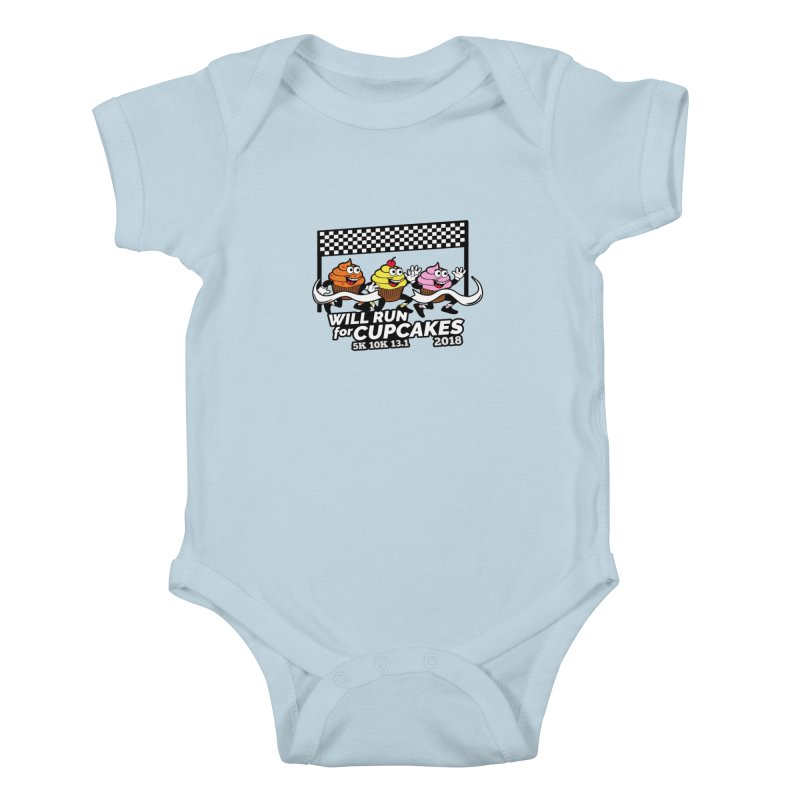 Cupcake Day 5K, 10K, 13.1 - Will Run For Cupcakes Kids Baby Bodysuit by moonjoggers's Artist Shop