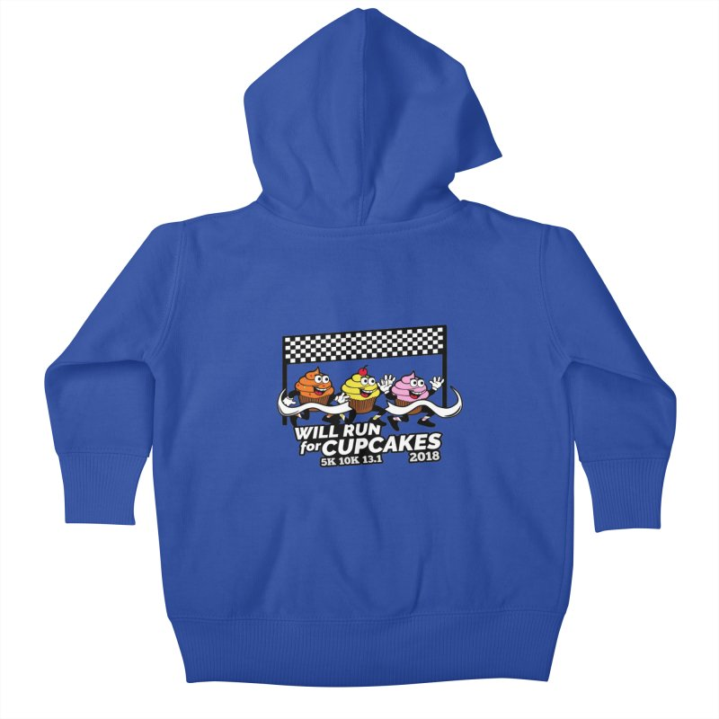 Cupcake Day 5K, 10K, 13.1 - Will Run For Cupcakes Kids Baby Zip-Up Hoody by moonjoggers's Artist Shop