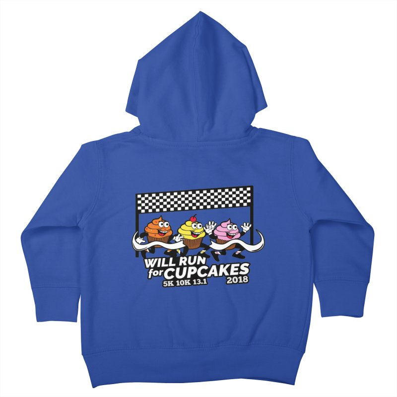 Cupcake Day 5K, 10K, 13.1 - Will Run For Cupcakes Kids Toddler Zip-Up Hoody by moonjoggers's Artist Shop