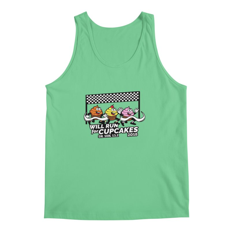 Cupcake Day 5K, 10K, 13.1 - Will Run For Cupcakes Men's Regular Tank by moonjoggers's Artist Shop