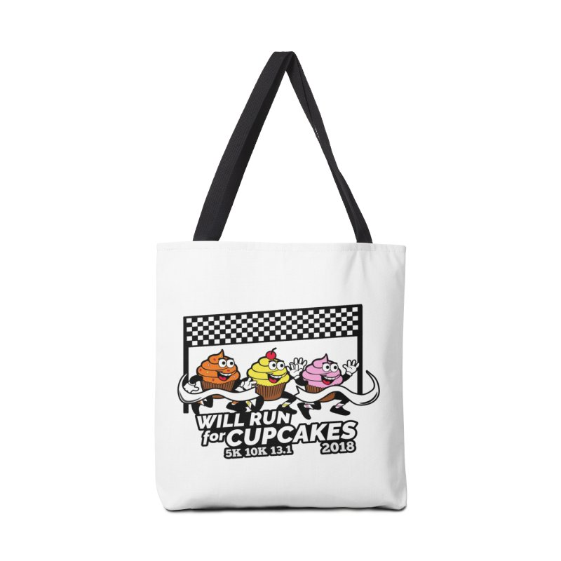 Cupcake Day 5K, 10K, 13.1 - Will Run For Cupcakes Accessories Bag by moonjoggers's Artist Shop
