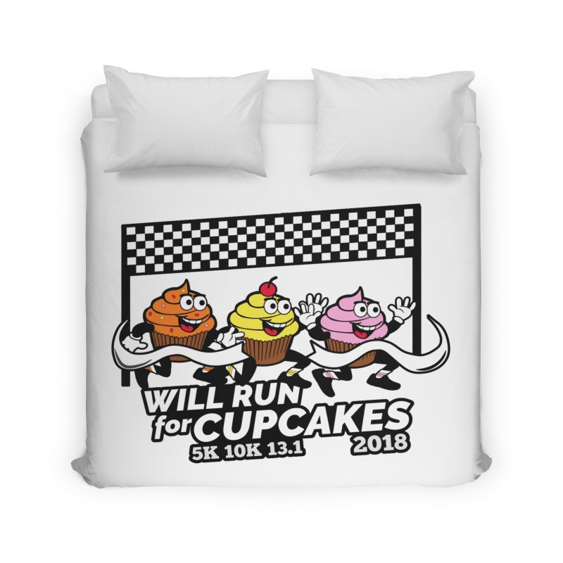 Cupcake Day 5K, 10K, 13.1 - Will Run For Cupcakes Home Duvet by moonjoggers's Artist Shop