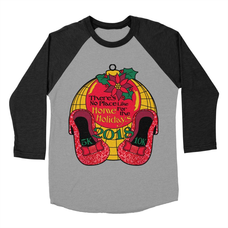 There's No Place Like Home for the Holidays 5K & 10K Men's Baseball Triblend Longsleeve T-Shirt by moonjoggers's Artist Shop