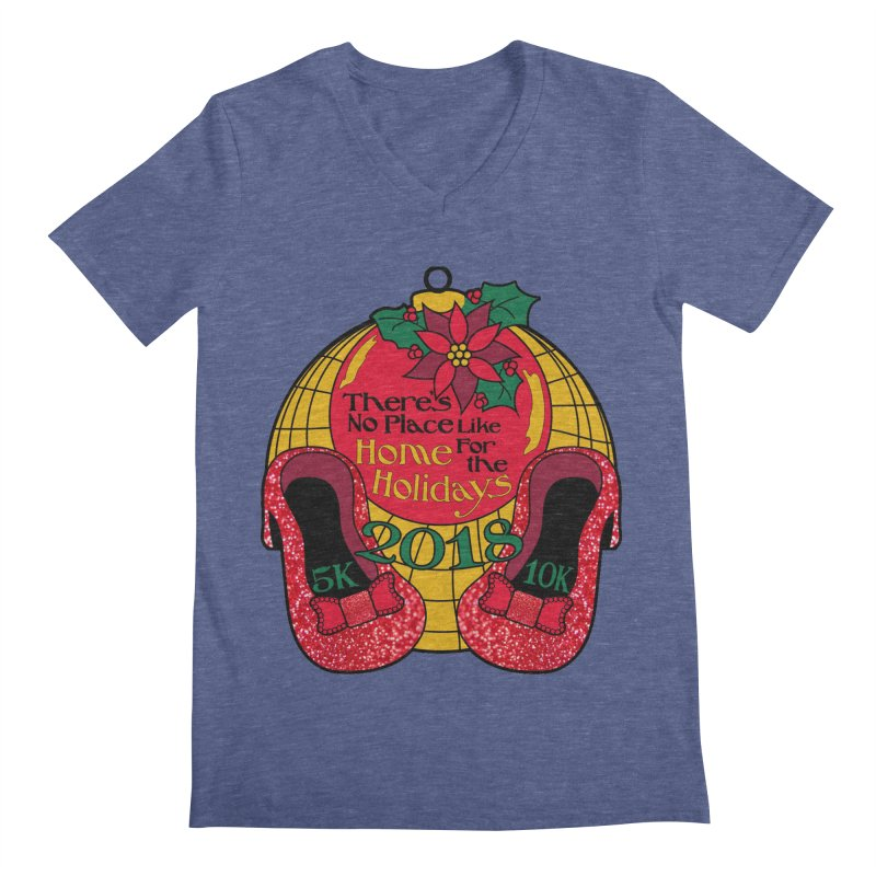 There's No Place Like Home for the Holidays 5K & 10K Men's V-Neck by moonjoggers's Artist Shop
