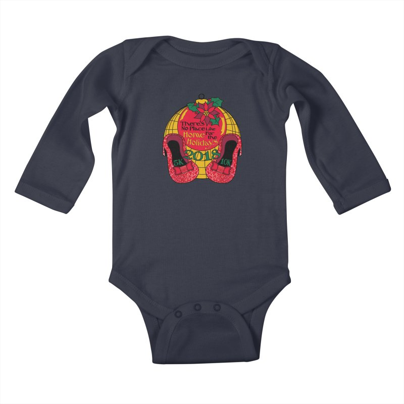 There's No Place Like Home for the Holidays 5K & 10K Kids Baby Longsleeve Bodysuit by moonjoggers's Artist Shop