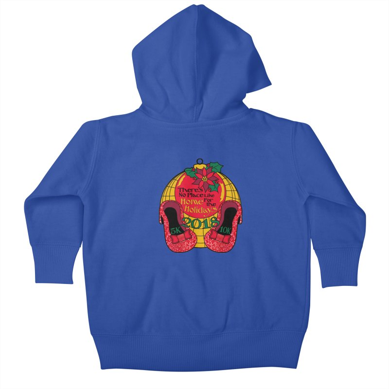 There's No Place Like Home for the Holidays 5K & 10K Kids Baby Zip-Up Hoody by moonjoggers's Artist Shop