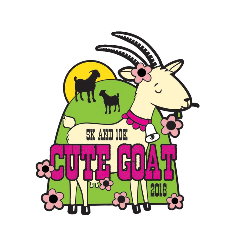 Cute Goat 5K & 10K by moonjoggers's Artist Shop