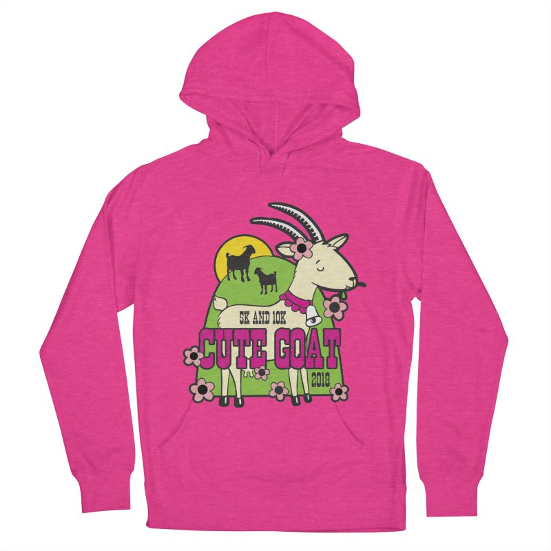 Cute Goat 5K & 10K Men's French Terry Pullover Hoody by moonjoggers's Artist Shop