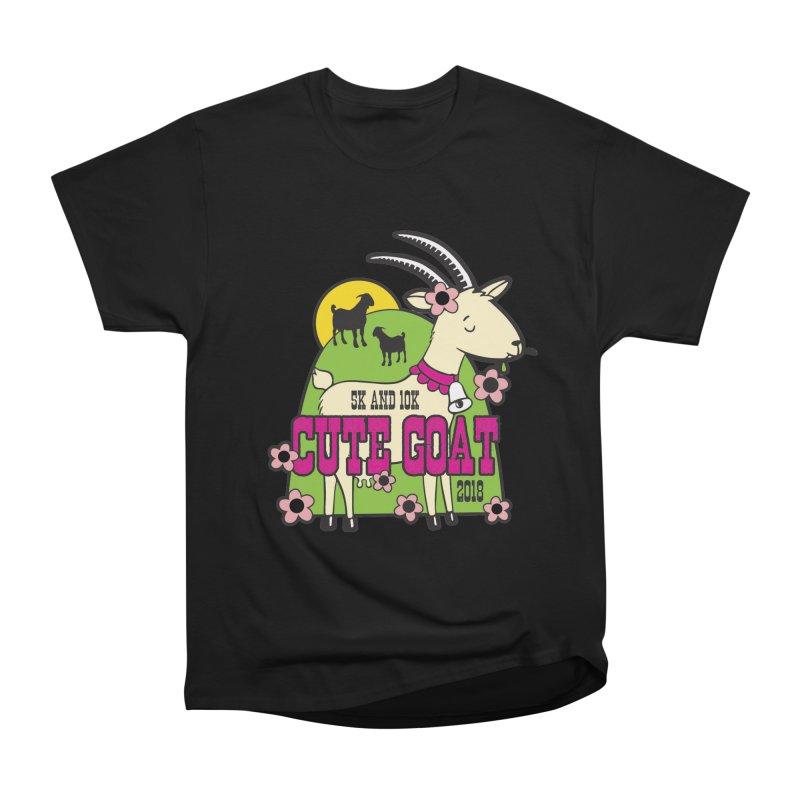 Cute Goat 5K & 10K Men's Heavyweight T-Shirt by moonjoggers's Artist Shop