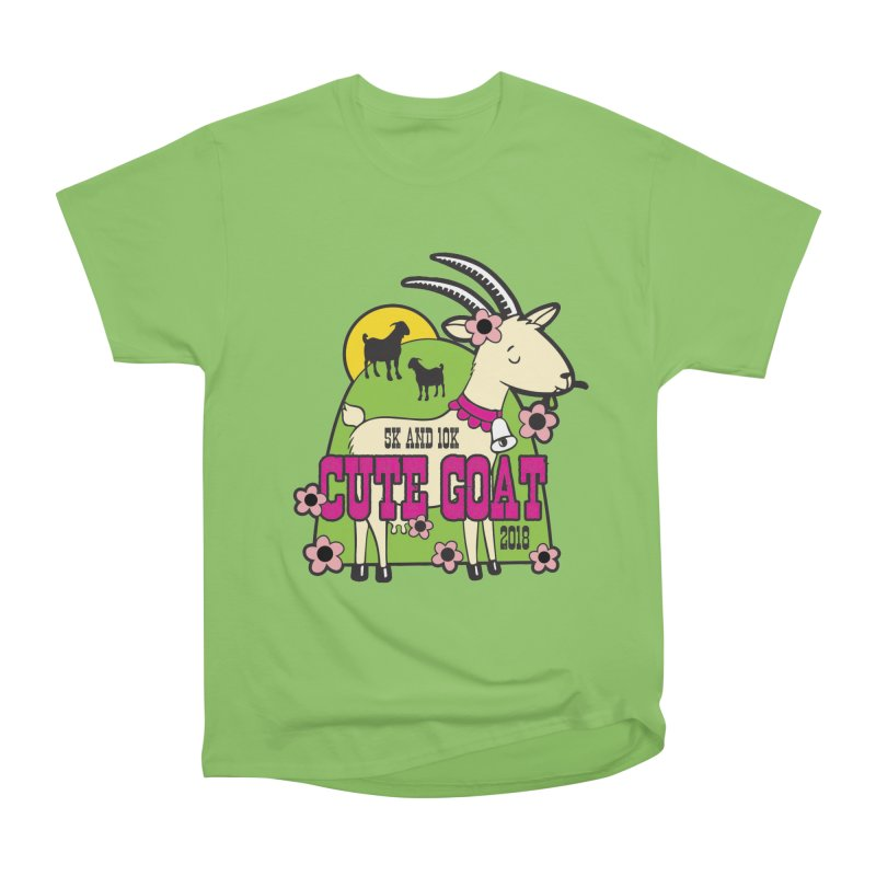 Cute Goat 5K & 10K Women's Heavyweight Unisex T-Shirt by moonjoggers's Artist Shop