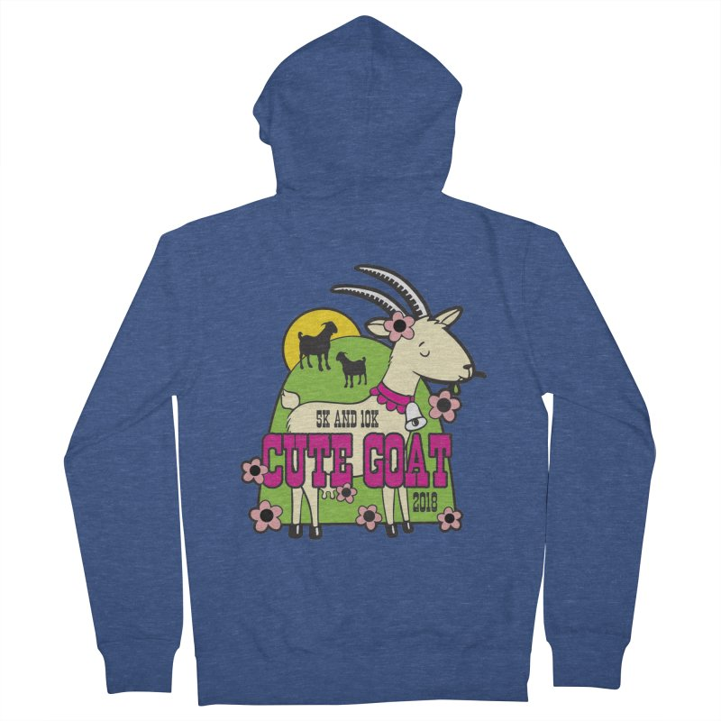 Cute Goat 5K & 10K Women's French Terry Zip-Up Hoody by moonjoggers's Artist Shop