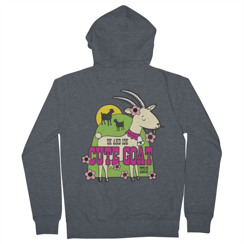 Cute Goat 5K & 10K Men's French Terry Zip-Up Hoody by moonjoggers's Artist Shop