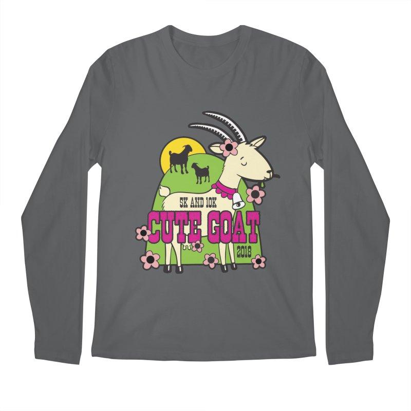 Cute Goat 5K & 10K Men's Regular Longsleeve T-Shirt by moonjoggers's Artist Shop