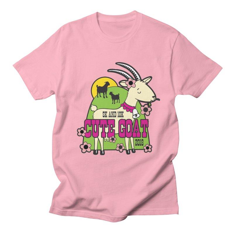 Cute Goat 5K & 10K Men's Regular T-Shirt by moonjoggers's Artist Shop