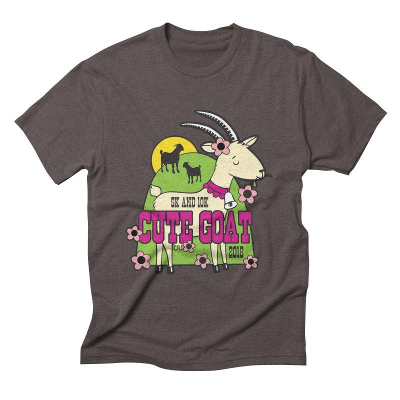 Cute Goat 5K & 10K Men's Triblend T-Shirt by moonjoggers's Artist Shop