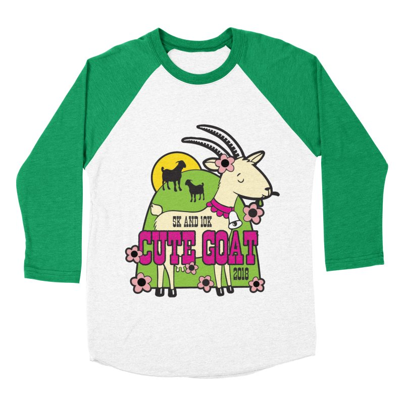 Cute Goat 5K & 10K Women's Baseball Triblend Longsleeve T-Shirt by moonjoggers's Artist Shop