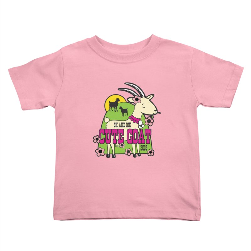 Cute Goat 5K & 10K Kids Toddler T-Shirt by moonjoggers's Artist Shop