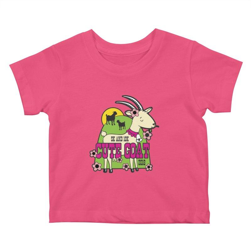 Cute Goat 5K & 10K Kids Baby T-Shirt by moonjoggers's Artist Shop