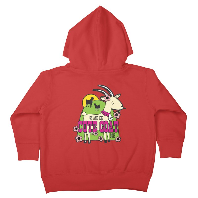 Cute Goat 5K & 10K Kids Toddler Zip-Up Hoody by moonjoggers's Artist Shop